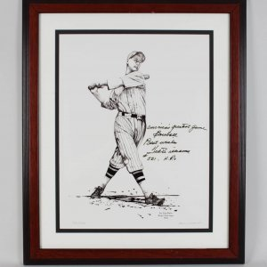 1936 San Diego Padres PCL Ted Williams Signed Limited Edition 521/1000 Litho