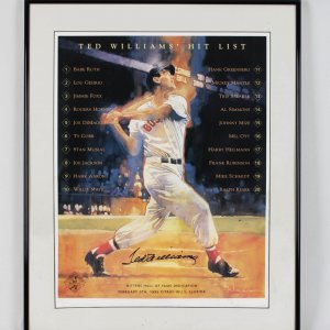 Boston Red Sox Ted Williams Signed 16x20 Poster