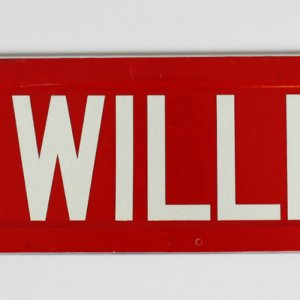 """Boston Red Sox Ted Williams """" Ted Williams Way """" Sign"""