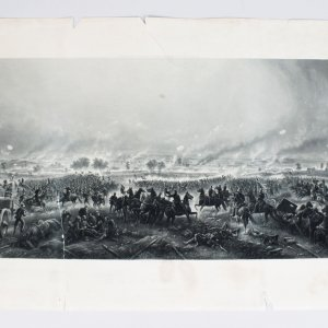 "Gettysburg ""Repulse of Longstreets Assault "" - 21x42 Engraving by H.B. Hall Jr."