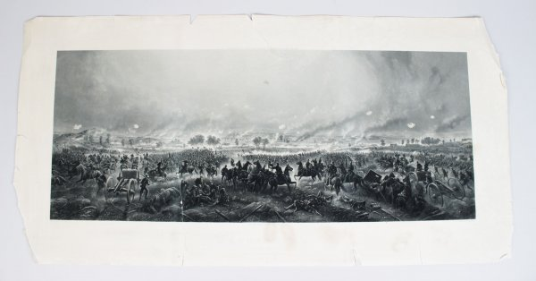 "Gettysburg ""Repulse of Longstreets Assault "" - 21x42 Engraving by H.B. Hall Jr."