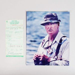 1992 Boston Red Sox Ted Williams Signed Photo & Fishing License