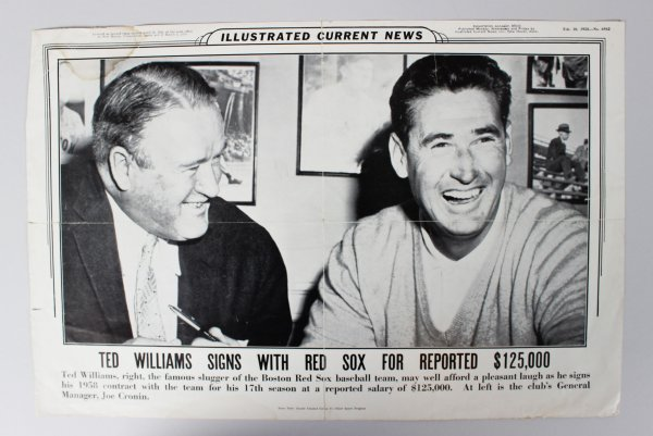 1958 Boston Red Sox Ted Williams Signing - Illustrated Current News