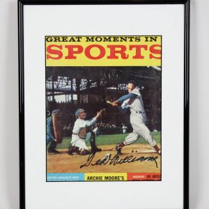 "1959 Boston Red Sox Ted Williams Signed ""Great Moments in Sports"" Magazine Cover"