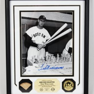 Boston Red Sox Ted Williams Signed Limited Edition 17/20 Game-Used Collection Display