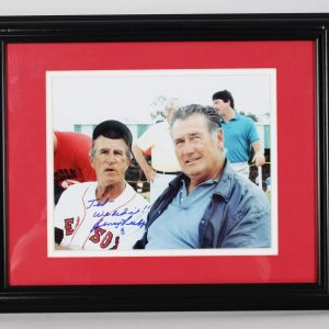 Boston Red Sox Johnny Pesky Signed 8x10 Photo in Display