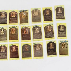 18 Signed Yellow Hall of Fame Post Cards - Incl.  Hal Newhouser