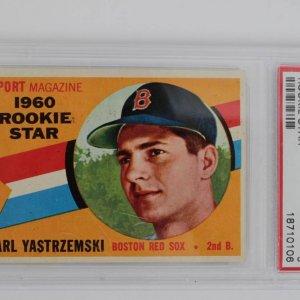 1960 Topps Baseball Card #148 Carl Yastrzemski Star Rookie PSA Graded 5 Boston