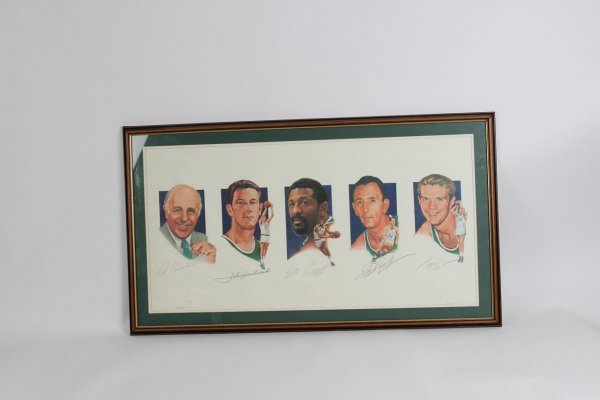 Boston Celtics Legacy I #'d Lithograph Signed by Red Auerbach