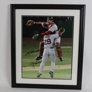 Boston Red Sox - Jason Varitek and Kieth Foulke Signed 16x20 Color Celebration Photo