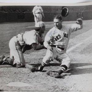 Boston Red Sox - Pete Fox Signed 8x10 B&W AP Press Wire Photo