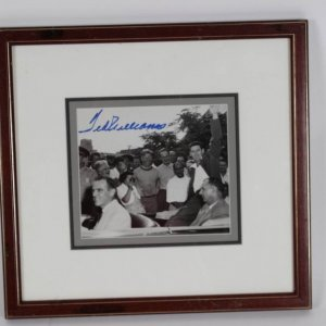 Boston Red Sox - Ted Williams Signed Fenway Park Fan News Wire 8x10 Photo