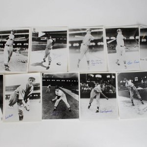 Boston Red Sox Signed 8x10 B&W Photos (10) Lot Incl. Tom Oliver
