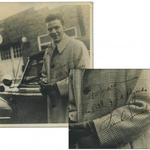 """Early Frank Sinatra Signed & Inscribed """" With Best Regards"""" Vintage  8x10 Sepia Tone Photograph (from Babysitter)"""