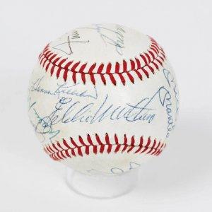 HOFer Multi-Signed OAL (MacPhail) Baseball - 13 Sigs. Incl. Mickey Mantle