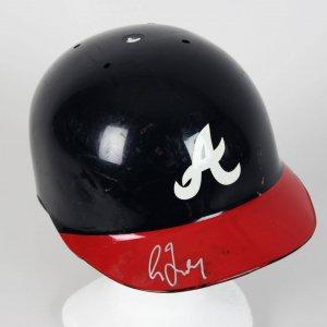 1998 Atlanta Braves - Greg Maddux Game-Worn, Signed Batting Helmet