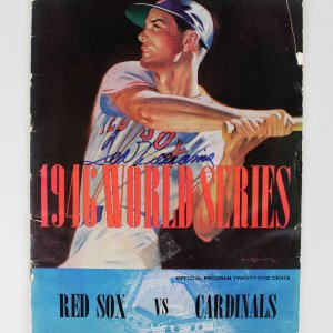 1946 Boston Red Sox Ted Williams Signed World Series Program