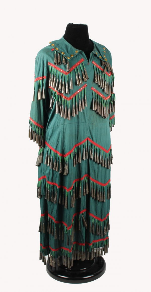Vintage Native American Indian Jingle Dress (Attributed to Annie Oakley)