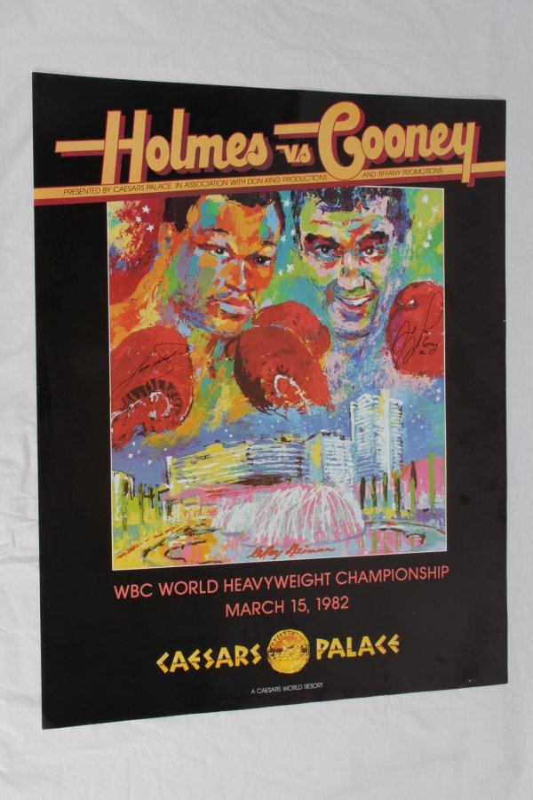 March 15, 1982 - Larry Holmes vs. Gerry Cooney Signed Caesars Palace Fight PosterMarch 15