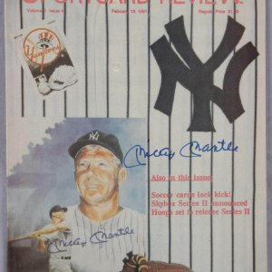 mickey mantle signed
