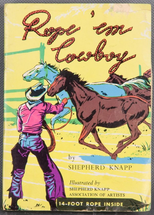 1950s Rope'em Cowboy w/14-Foot Rope (In Box)