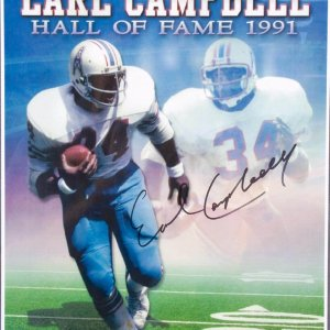 Oilers - Earl Campbell Signed 11x14 Photo LE 12/134