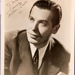 Vintage 1946 Milton Berle Signed Portrait, Dated