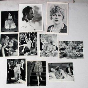 10 Vintage Movie Film Promo Photo Lot Incl. Sets & Headshots