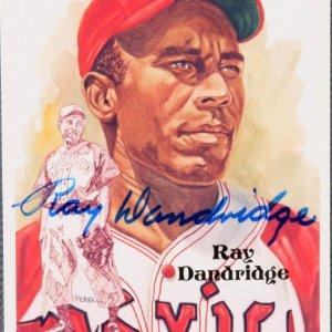 Ray Dandridge Autographed Limited Edition 752/10000 Postcard HOF