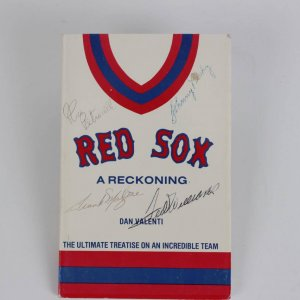 """Boston Red Sox """"A Reckoning"""" Signed Book - Ted Williams, Johnny Pesky & Rico Petrocelli"""