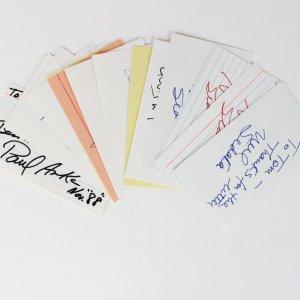 18 3x5 Music Lot Neil Sedaka, Bobby Rydell, Fats Domino, Paul Anka