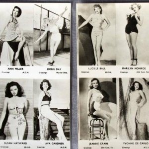 2 Marilyn Monroe Lucile Ball Susan Hayward Doris Day Ava Gardner & 5 More Starlets B&W 4x5 Glossy Photo