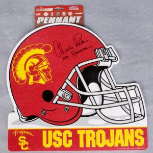 "Charles White Signed USC Pennant ""1979 Heisman"""