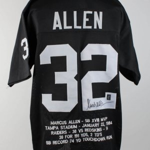 Raiders Marcus Allen Signed Jersey (COA Player Hologram)