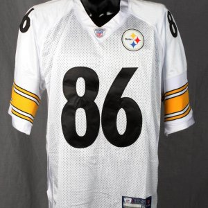 Hines Ward Steelers Signed & Inscribed 86 White Jersey Global Authentics