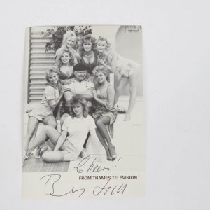 Benny Hill Signed & Inscribed (Cheers ) 6x4 Photo From Thames Television