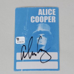 Rock Star Alice Cooper Signed 4.5 x 3 Sticker