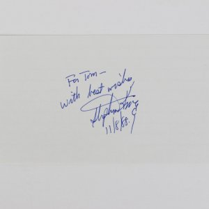 Stephen King Signed & Inscribed (With Best Wishes 11/8/88 ) 3/5 Index Card