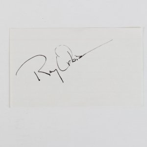 ROY ORBISON American Singer Songwriter Signed (3/5 Index card)