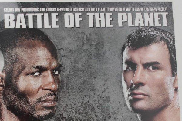 2008  Bernard Hopkins vs. Joe Calzaghe Boxing Match On-site Fight Poster & (2) Full Tickets (Thomas Mack Center