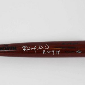 "Los Angeles Dodgers - Raul Mondesi Game-Issued Signed & Inscribed ""R.O.Y 94"" Bat"