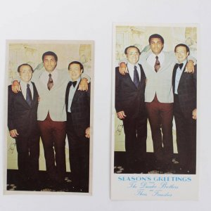 "Muhammad Ali Organil l"" 3 1/2 X 6 "" Photo For The Season's Greetings From The Dundee Brothers Christmas Card"