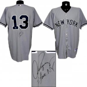 """Alex Rodriguez Signed """"I Love NY"""" Yankees Jersey (with A-Rod Hologram)"""