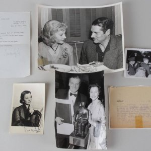 Viven Leigh & Laurence Olivier Lot(2) Signed Photos & Leigh Signed Letter (TLS) Press / Studio