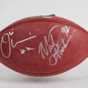 Umenyliora & Michael Strahan Dual Signed MFL Wilson (Goodell) The Duke Football