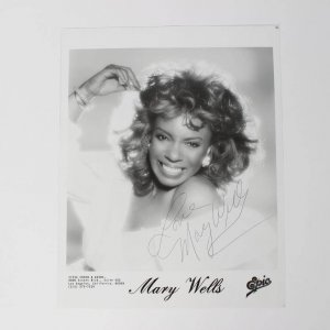 "Mary Wells Signed & Inscribed ""Love"" 8x10 B&W Photo"