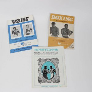 Trio of Muhammad Ali vs. Joe Frazier Viewsports United Kingdom Edition Fight Programs - March 8