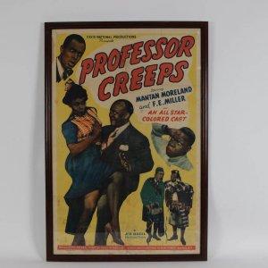 "Vintage 1942 ""Professor Creeps"" Movie Film One Sheet Poster (27x41 Display)"