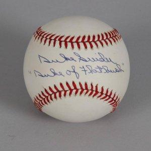 Brooklyn Dodgers - Duke Snider Signed