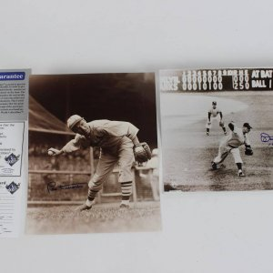 Leo Durocher  & Don Larsen Signed